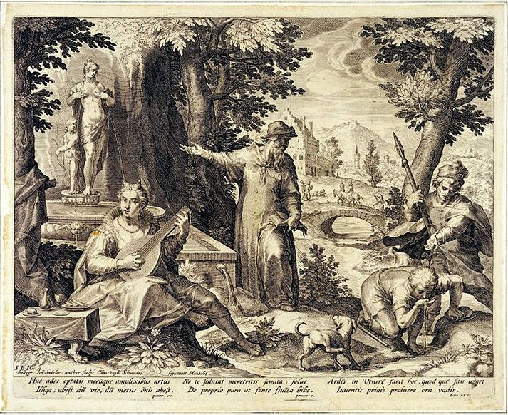 Jan Sadeler History of Syphilus, sec.XVI